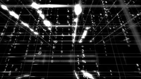 Digital data matrix stock footage