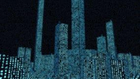 Digital Data Matrix Code City (Loop HD) stock video footage