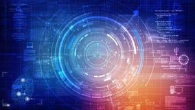 Digital Data of Network Technology Motion Graphics Animation Background vector illustration