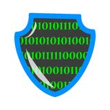 Digital data protection and privacy concept banner stock illustration
