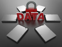 Digital data security concept Royalty Free Stock Photo