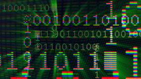 01 digital data sequence Stock Image