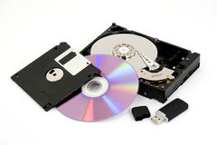 Digital data storage Royalty Free Stock Image