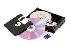 Digital data storage Stock Image