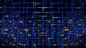 Digital data video matrix Royalty Free Stock Image