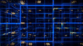 Digital data video matrix stock video
