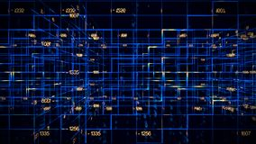 Digital data video matrix stock footage
