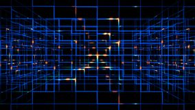 Digital data video matrix. HD 1080i stock footage