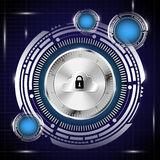 Digital database in security concept background Royalty Free Stock Images