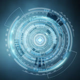 Digital datas on hologram screen Stock Photography