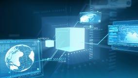 Digital-Daten-Code-Netzwerkschnittstelle-Technologie HD stock video