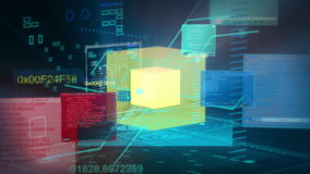 Digital-Daten-Code-Netzwerkschnittstelle-Technologie 4K stock abbildung
