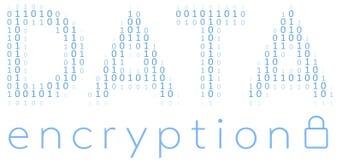 Digital-Daten-Verschlüsselungs-Sicherheits-Code Stockfotografie