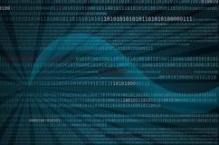 Digital-Datenfluss oder binärer Code Lizenzfreies Stockbild