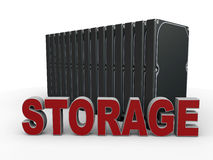 Digital-Datenspeicherungskonzept Lizenzfreies Stockbild