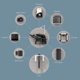 Digital dentistry concept. Royalty Free Stock Photo
