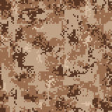 Digital Desert Camouflage Seamless Pattern Royalty Free Stock Photos