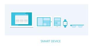 Digital device concept icon set Stock Photos