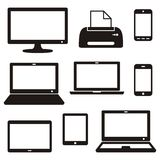 Digital device icons Stock Photos