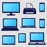 Digital device icons Royalty Free Stock Photography