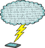Digital Device and Lightening Stock Photo
