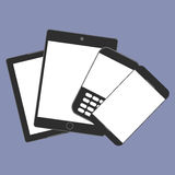 Digital devices generation trend respectively, design for web presentation in  icon set Royalty Free Stock Photo