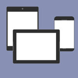 Digital devices generation trend respectively, design for web presentation in  icon set Royalty Free Stock Images