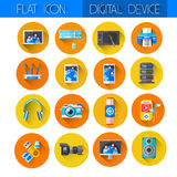 Digital Devices Icon Set Collection Royalty Free Stock Photos