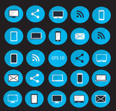Digital devices icon set vector illustration Stock Photos