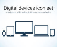 Digital devices icon set Royalty Free Stock Image