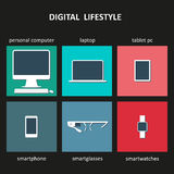 Digital devices icons Royalty Free Stock Photos