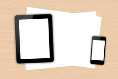 Digital Devices and Sheet Stock Image