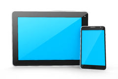 Digital devices tablet and smart phone. Royalty Free Stock Image