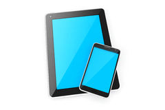Digital devices tablet and smart phone. Stock Photography