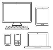 Digital devices. On white Stock Photo