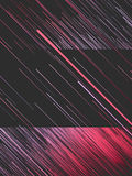 Digital diagonal red lines abstract background. 3d rendering Stock Photography