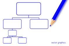 digital diagramsystemwhiteboard Arkivbilder