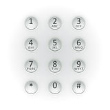 Digital dial plate Royalty Free Stock Photos