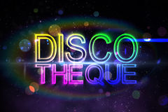 Digital discotheque text. In cool colours Royalty Free Stock Image