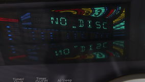Digital display of Hi-Fi stereo system close up view stock footage