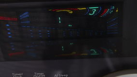 Digital display of Hi-Fi stereo system close up view stock video footage