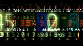 Digital display stock footage