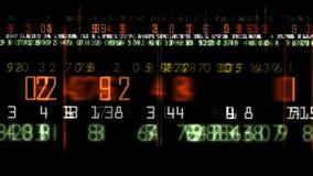 Digital display stock video