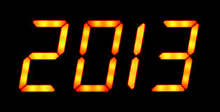 Digital display shows 2013 Royalty Free Stock Images