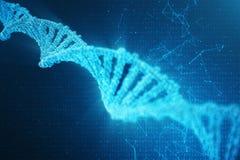 Digital DNA-Molekül, Struktur Menschliches Genom des Konzeptbinär code DNA-Molekül mit geänderten Genen Abbildung 3D stock abbildung