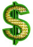 Digital dollar Stock Image