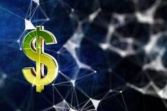 Digital dollar sign backdrop. Abstract digital dollar sign backdrop. Money concept. 3D Rendering vector illustration