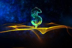 Free Digital Dollar Sign Wallpaper Stock Images - 102707624