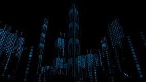 Digital Dots City Buildings