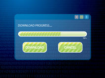 Digital download blue Stock Images